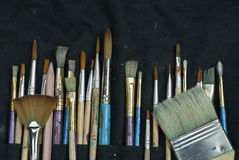 Selection of artist paint brushes Stock Image