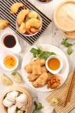 Selection of asian cuisine. Top view Royalty Free Stock Photos