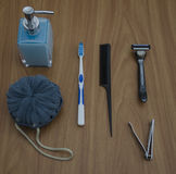 A selection of bathroom essentials Royalty Free Stock Photo