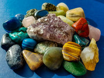 Selection of beautiful gem stones Stock Image