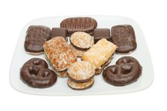 Selection of biscuits Royalty Free Stock Photos