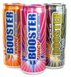 A selection of Booster energy drinks Stock Photo