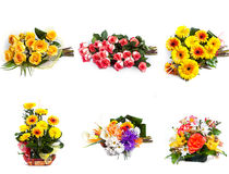Selection of Bouquet of Flower Stock Image