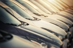 Selection of Brand New Cars royalty free stock images