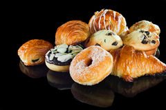Selection of breads breakfast Royalty Free Stock Image
