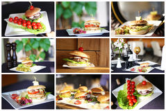 Selection of burgers Royalty Free Stock Images