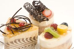 Selection of cakes Royalty Free Stock Photos