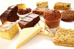 Selection of cakes Royalty Free Stock Photography
