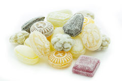 Selection of candies isolated on white. Background Royalty Free Stock Image