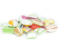 Selection of candies isolated on white. Background Stock Photography