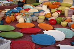 Colorful ceramics royalty free stock images