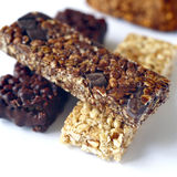 Selection of cereal bars. Food, gastronomy,culinary,cookery Royalty Free Stock Photography
