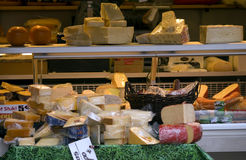 Selection of cheese, Eindhoven, The Netherlands Stock Image