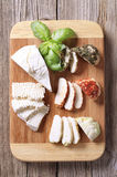 Selection of cheeses Stock Photos