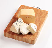 Selection of cheeses Royalty Free Stock Image