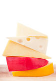 Selection of  cheeses Stock Photo