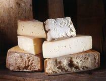 Selection of cheeses at market Royalty Free Stock Image