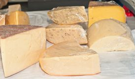 Selection of cheeses Stock Image