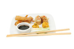 Selection of Chinese snacks Stock Image