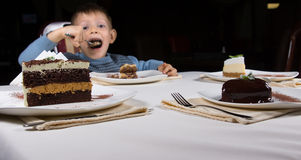 Selection of chocolate cakes for dessert Stock Photos