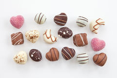 Selection of chocolate candy Royalty Free Stock Photos