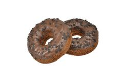 Selection of chocolate chip doughnuts Royalty Free Stock Photo