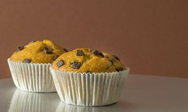 A selection of chocolate chip muffins Royalty Free Stock Images