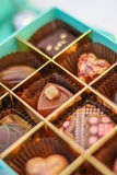 Selection of chocolates Stock Photo