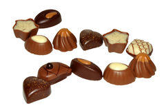 A selection Of Chocolates Royalty Free Stock Images