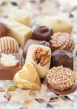 Selection of chocolates Stock Photos