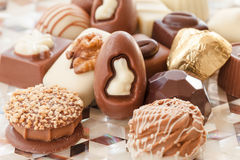 Selection of chocolates Stock Images