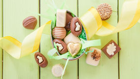 Selection of chocolates Royalty Free Stock Photography