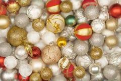 Selection of Christmas balls Royalty Free Stock Image