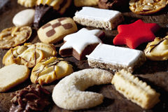 Selection of christmas cookies Royalty Free Stock Photo