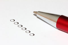 Selection circles with pen Stock Photo