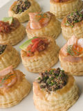 Selection of Cocktail Vol au Vents stock images