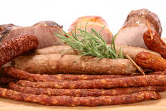 Selection of cold meat Royalty Free Stock Photo