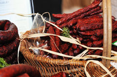 Selection of cold meat Royalty Free Stock Photos
