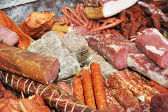 Selection of cold meat Stock Photos