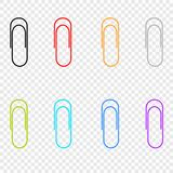 A selection of colored icons clip , located on a transparent background. Vector elements for your design. stock illustration