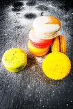 Selection of colorful cakes macarons Stock Images