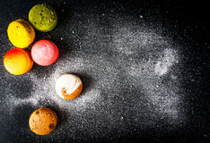 Selection of colorful cakes macarons Stock Photography