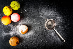 Selection of colorful cakes macarons Royalty Free Stock Image