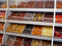 Selection of colorful candies and jellies Stock Photos