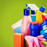 Selection of colorful cleaning equipment Stock Photography