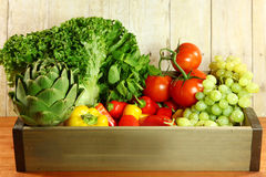 Selection of Colorful Produce in a Box Royalty Free Stock Images
