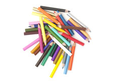 Selection of coloured pencils Stock Photo