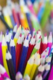 Selection of coloured pencils. royalty free stock photos