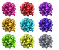 Selection of colourful bows Royalty Free Stock Photos