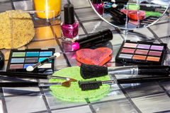 Selection of colourful cosmetics Royalty Free Stock Image